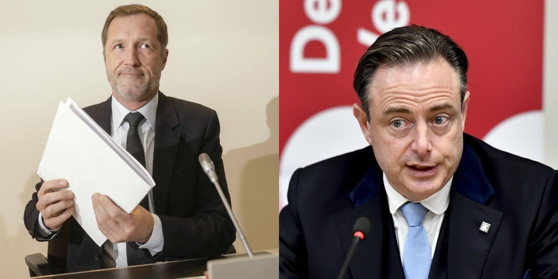 """Peter De Roover (N-VA): """"En rencontrant De Wever, Magnette devait cocher une case de sa liste"""""""