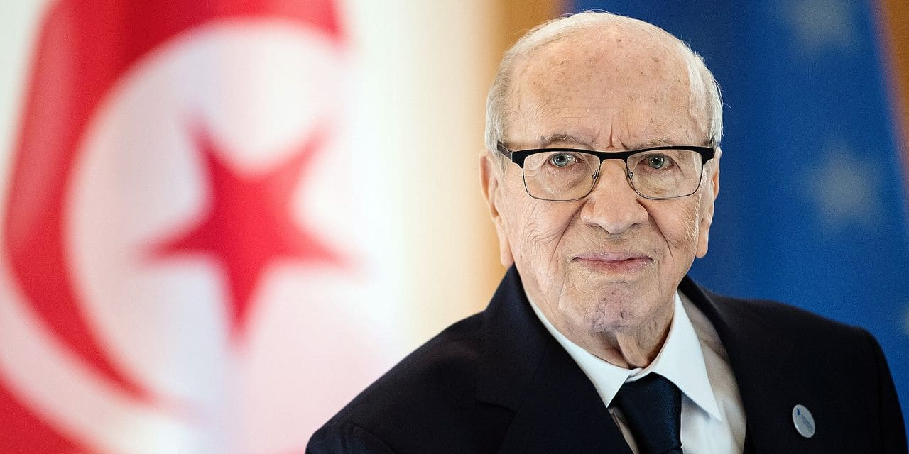 dpatop - FILED - 30 October 2018, Berlin: Tunisian President Beji Caid Essebsi is seen at the Bellevue Palace after signing the guest book. On 25 July 2019, Essebsi has died at a military hospital in the capital Tunis, the presidency has said. Photo: Bernd von Jutrczenka/dpa
