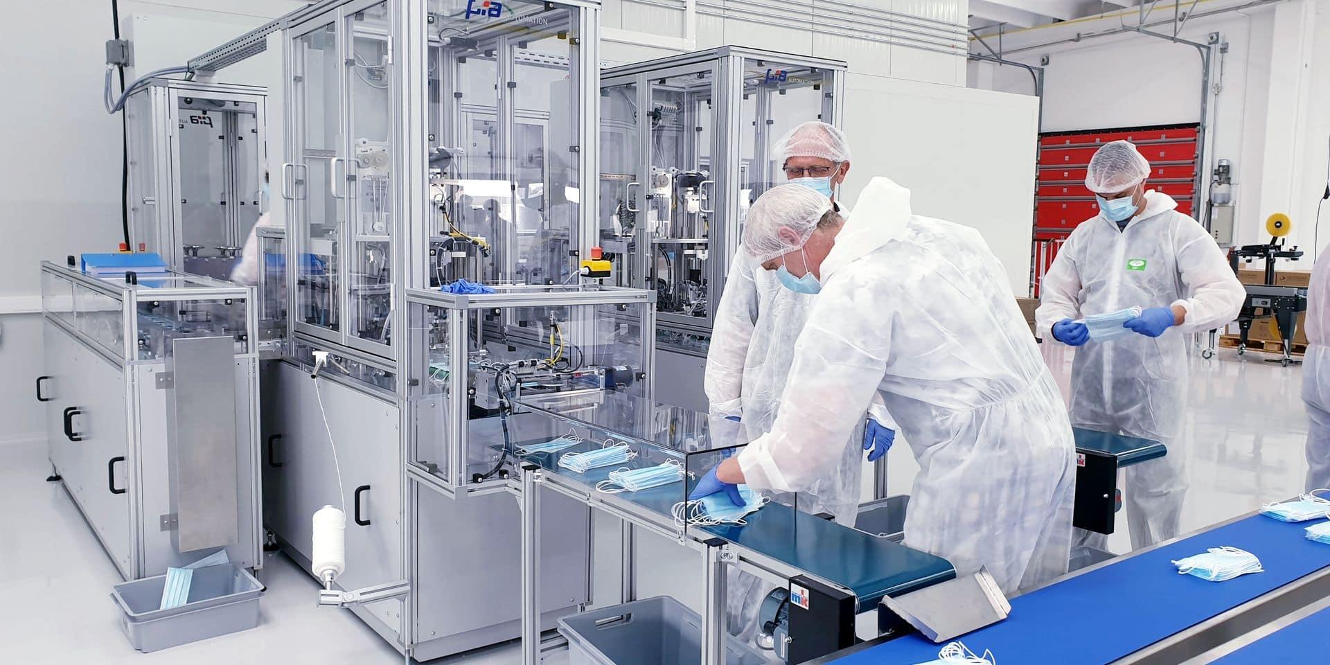 Deltrian a lancé sa production: jusqu'à 120 millions de masques fabriqués à Charleroi