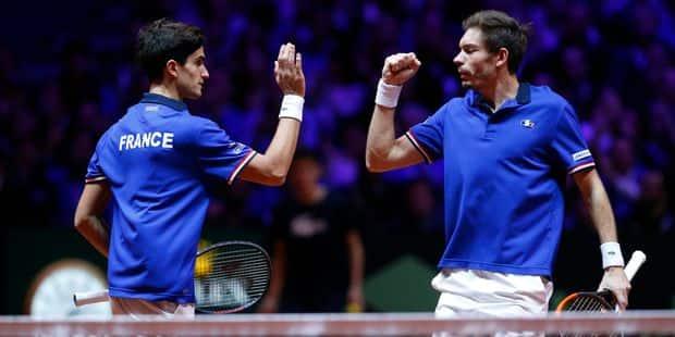 Finale de Coupe Davis: Mahut et Herbert s'en sortent, la France revient à 2-1 en finale contre la Croatie - La Libre