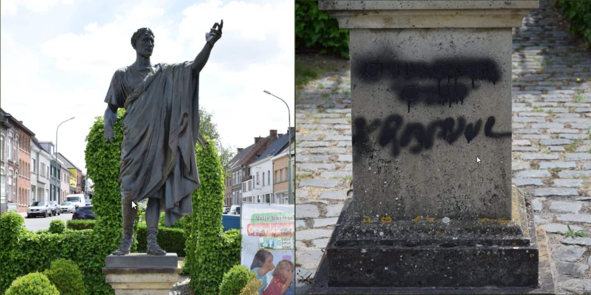 Une statue de Jules César vandalisée à Zottegem