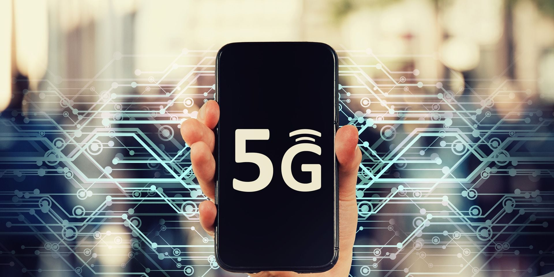 Marketing,Hand,Holding,5g,Internet,Connection,Smartphone.,New,Mobile,Phone