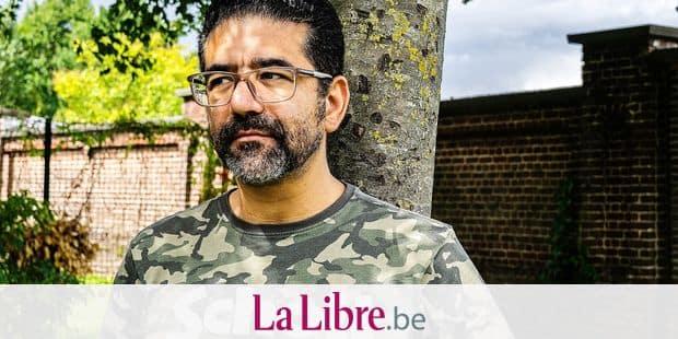 L'avocat Hamid El Abouti près de son cabinet d'avocat à Molenbeek-Saint-Jean, le 12 août 2019.