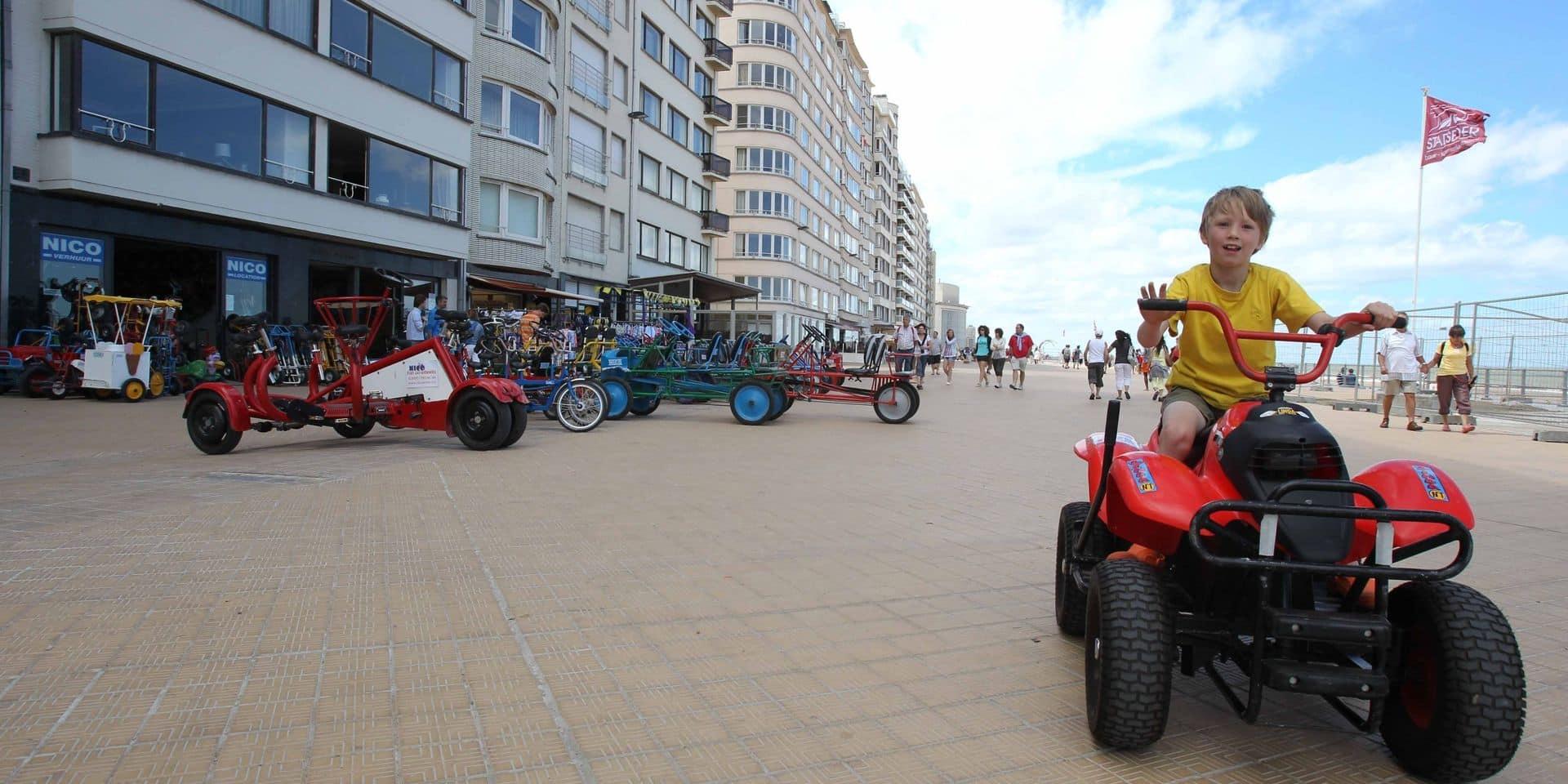 Vélos et cuistax seront interdits sur la digue d'Ostende lors des pics de fréquentation