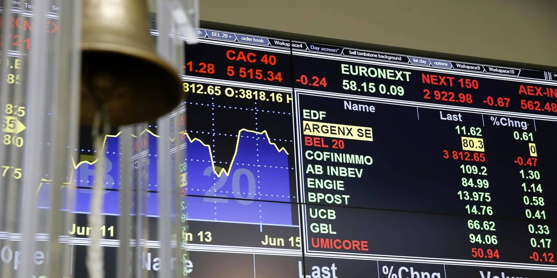 Bourses : Débâcle sur les marchés boursiers, le Bel 20 chute à plus de 7% !
