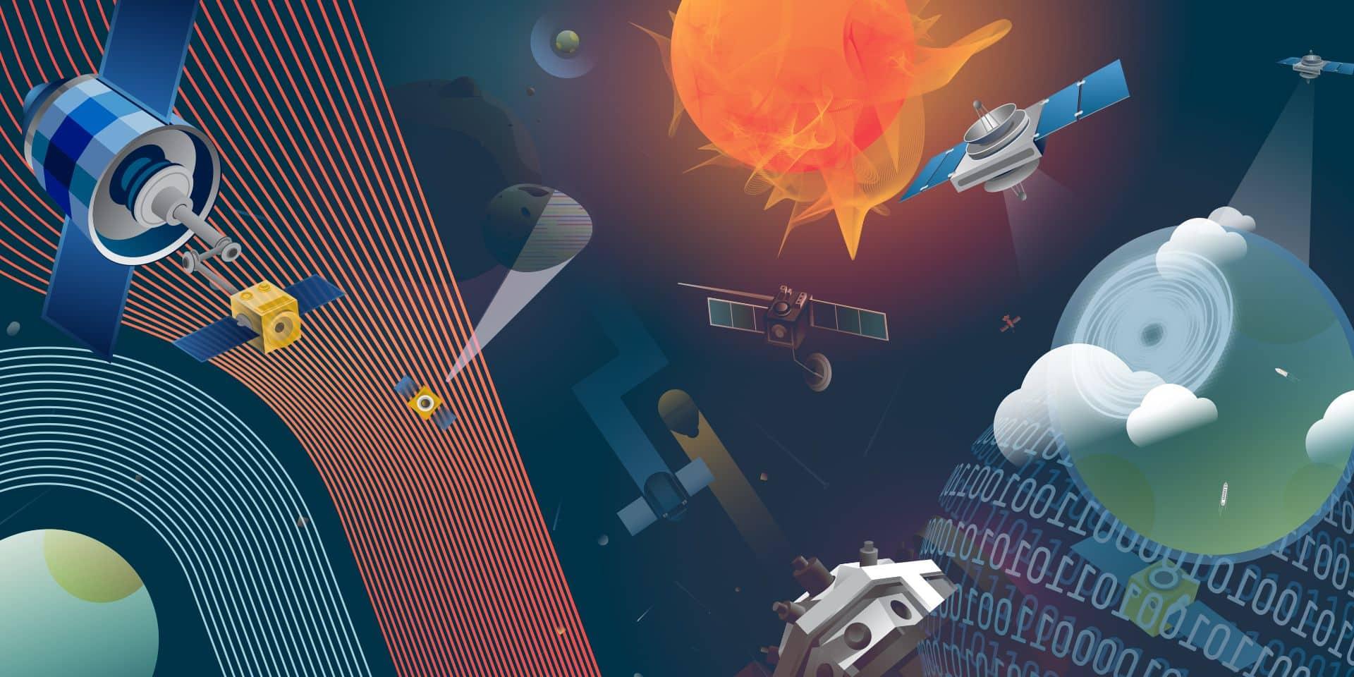 """Missile antisatellite, espionnage, hacking... L'espace, ce """"nouveau front de guerre du monde"""""""