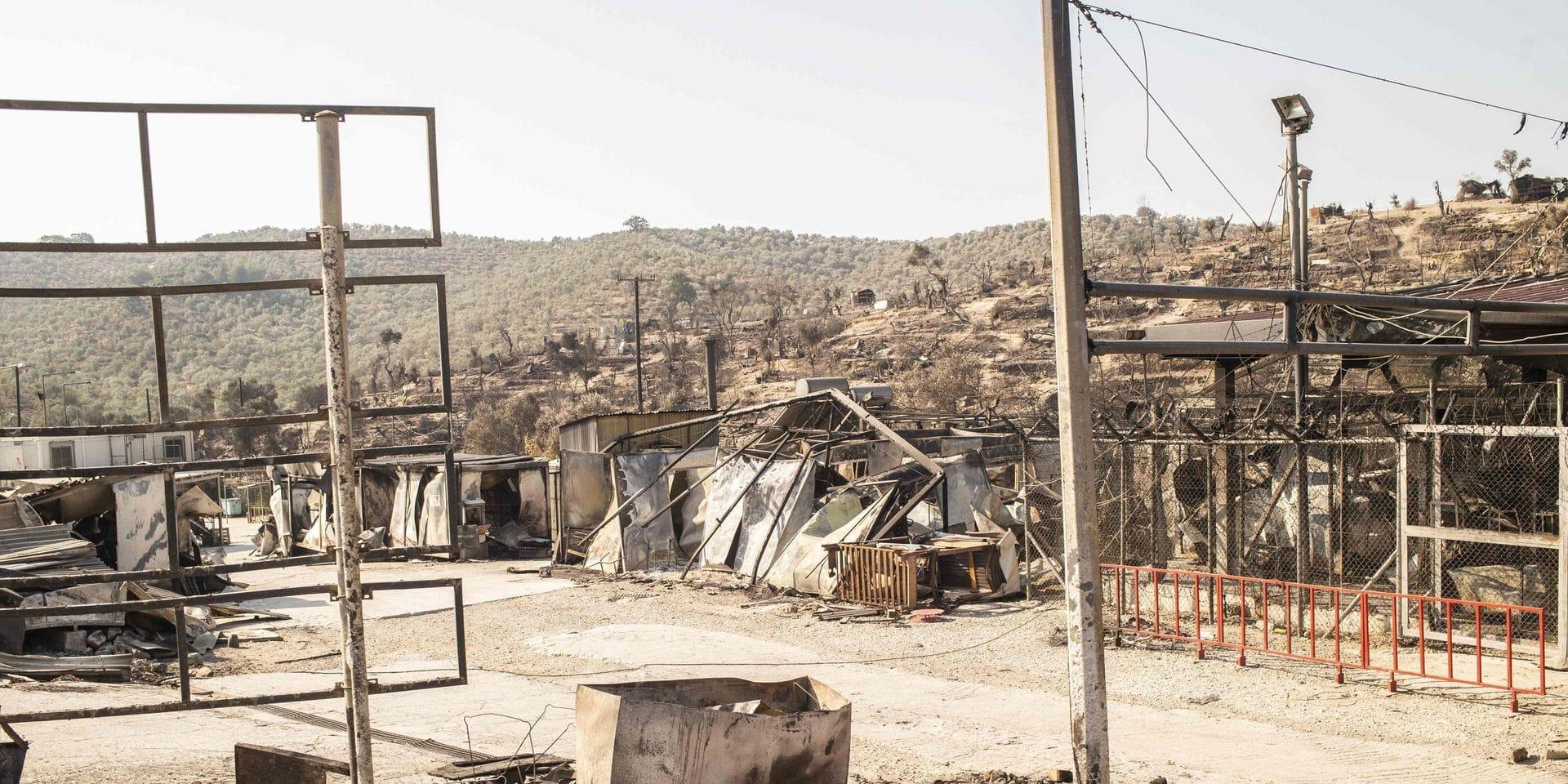 Epuisement et exaspération à Lesbos, après la destruction du camp de Moria