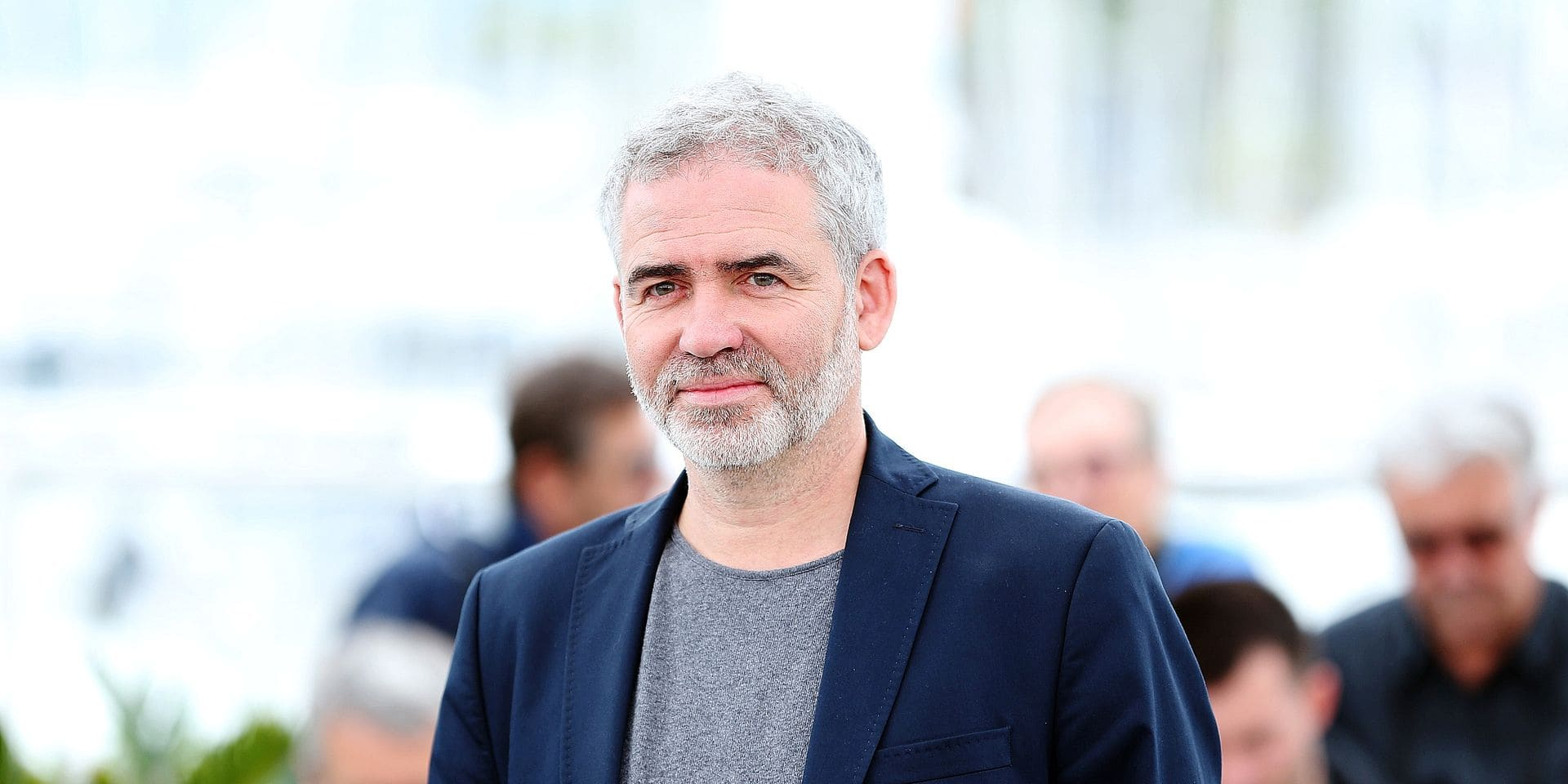 """(180516) -- CANNES, May 16, 2018 () -- Director Stephane Brize of the film """"In War (En Guerre)"""" poses during a photocall of the 71st Cannes International Film Festival in Cannes, France on May 16, 2018. The 71st Cannes International Film Festival is held from May 8 to May 19. (/Luo Huanhuan) (zf) Reporters / Photoshot"""