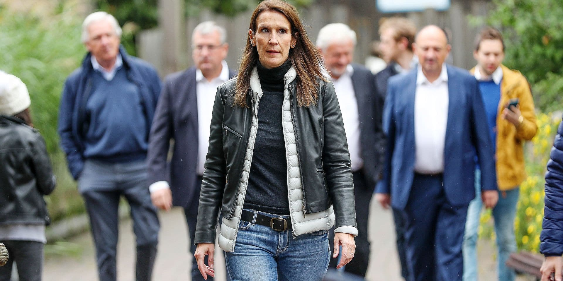 Minister of Budget Sophie Wilmes arrives for a party meeting of French-speaking liberals MR on the occasion of the end of the summer break, Saturday 07 September 2019 in Stavelot. BELGA PHOTO BRUNO FAHY