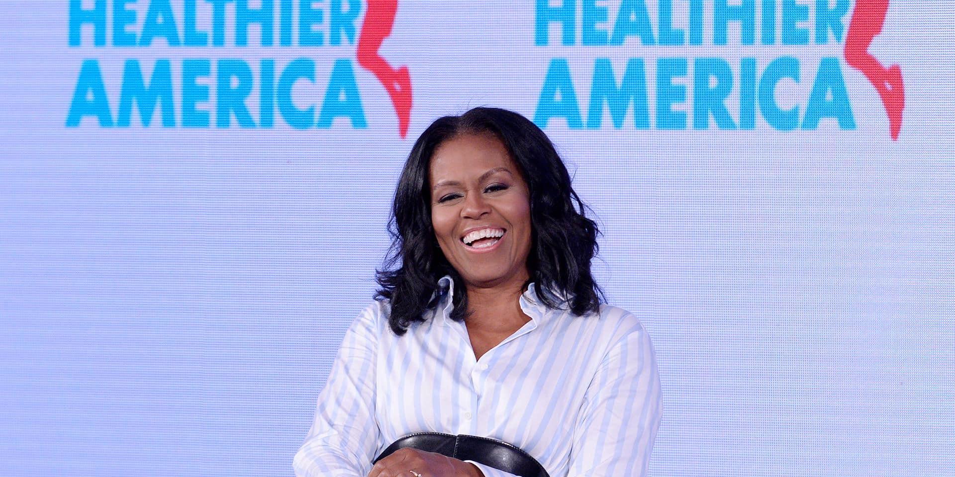 Michelle Obama fait sensation avec des cuissardes Balenciaga à plus de 3000 euros !