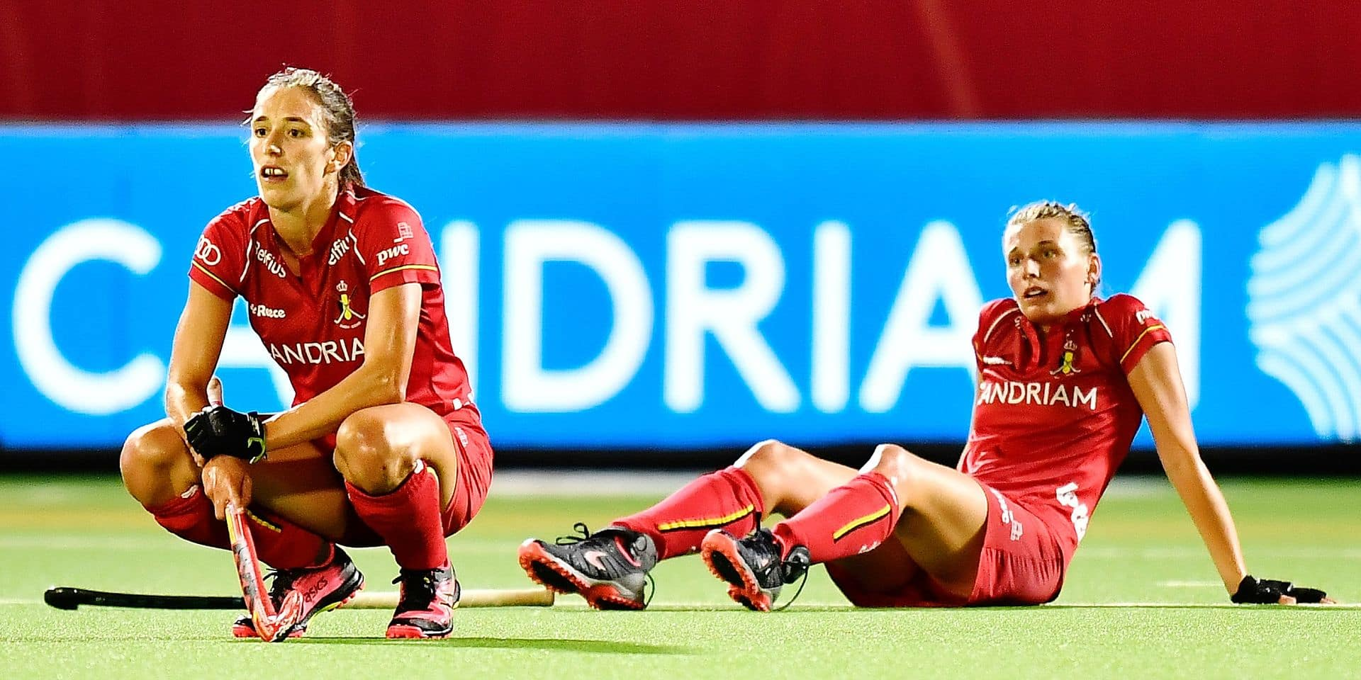 Belgium's Judith Vandermeiren looks dejected after a hockey game between Belgian women's national team The Red Panthers and Spain, game 3/3 in Pool A of the 'EuroHockey' European Championships, Wednesday 21 August 2019 in Wilrijk, Antwerp. BELGA PHOTO DIRK WAEM