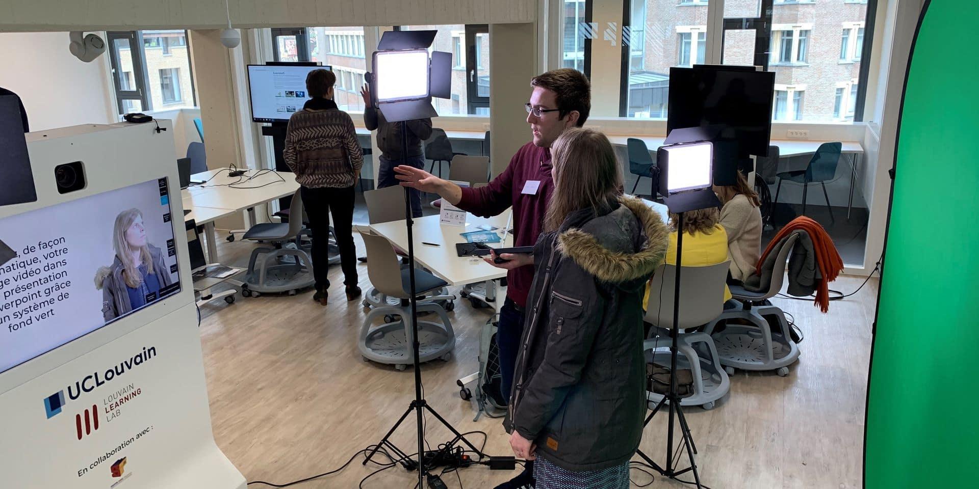 """Une bibliothèque de l'UCLouvain transformée en """"learning center"""""""