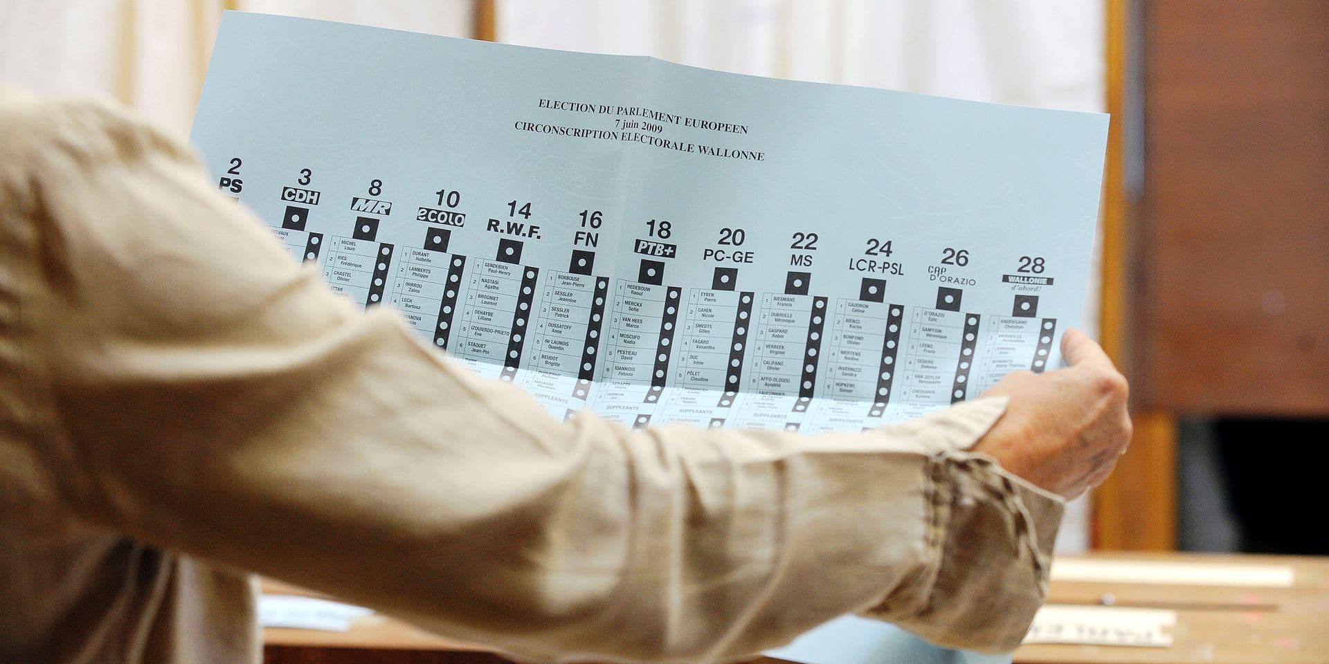 Elections vote urne bureau politique partis bulletin scrutin