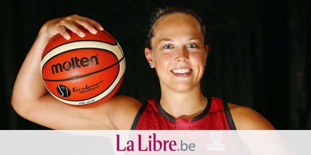Belgian Cats Julie Allemand poses for the photographer during a media day of the Belgian national team women basketball team 'the Belgian Cats' ahead of the European championships Eurobasket 2019, Wednesday 12 June 2019, in Kortrijk. BELGA PHOTO VIRGINIE LEFOUR