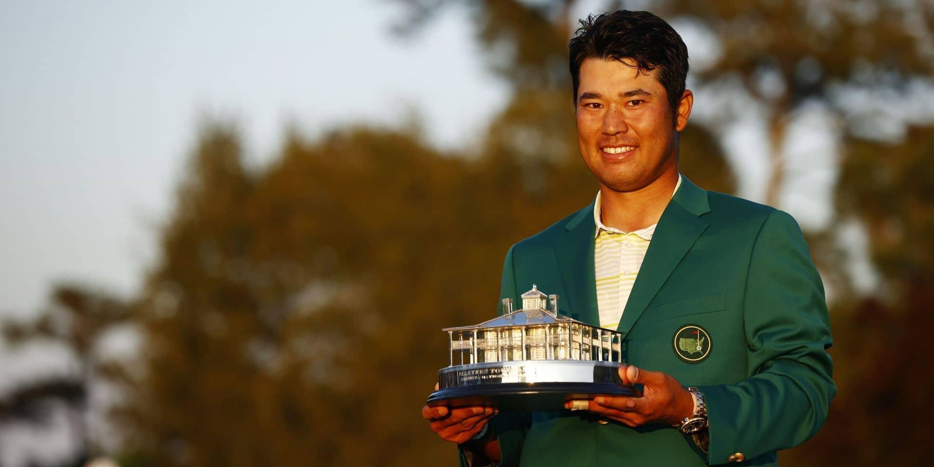 Hideki Matsuyama avec la légendaire green jacket.