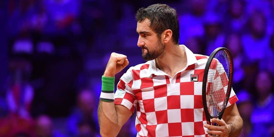 Marin Cilic entre dans l'histoire de la Coupe Davis - La Libre