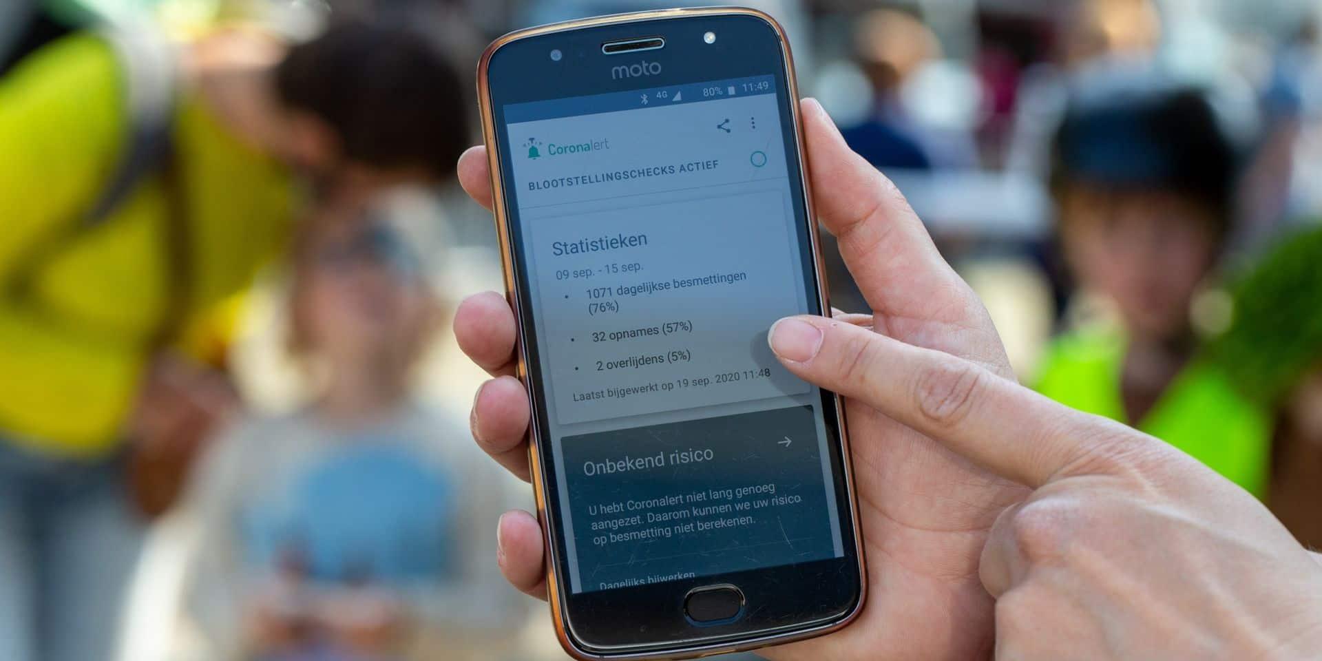 """L'application de traçage numérique belge """"Coronalert"""" est disponible au grand public"""