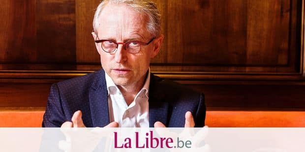 """BRUSSELS, BELGIUM: Director Google Belgium Thierry Geerts pictured during an interview at """"L'Ecailler du Palais Royal"""" restaurant in Brussels (February 27th 2018)."""