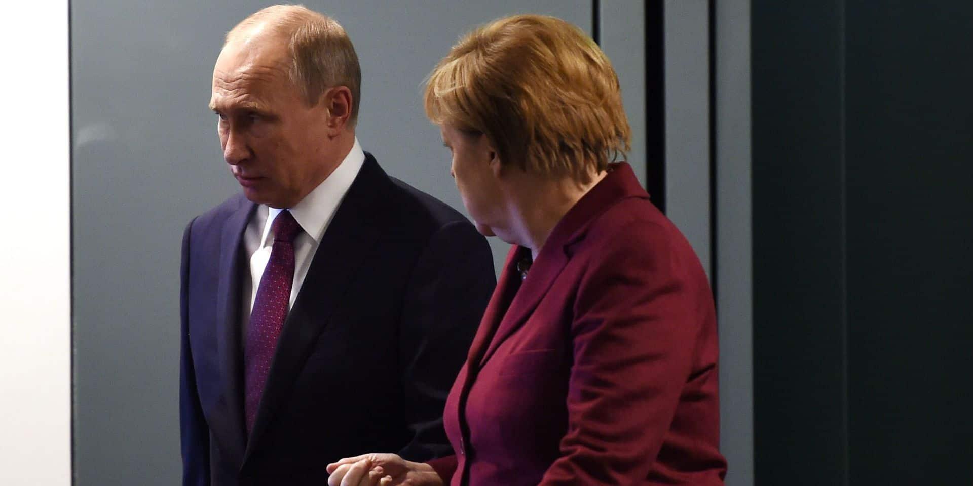 Angela Merkel et Vladimir Poutine, le 19 octobre 2016 à Berlin.
