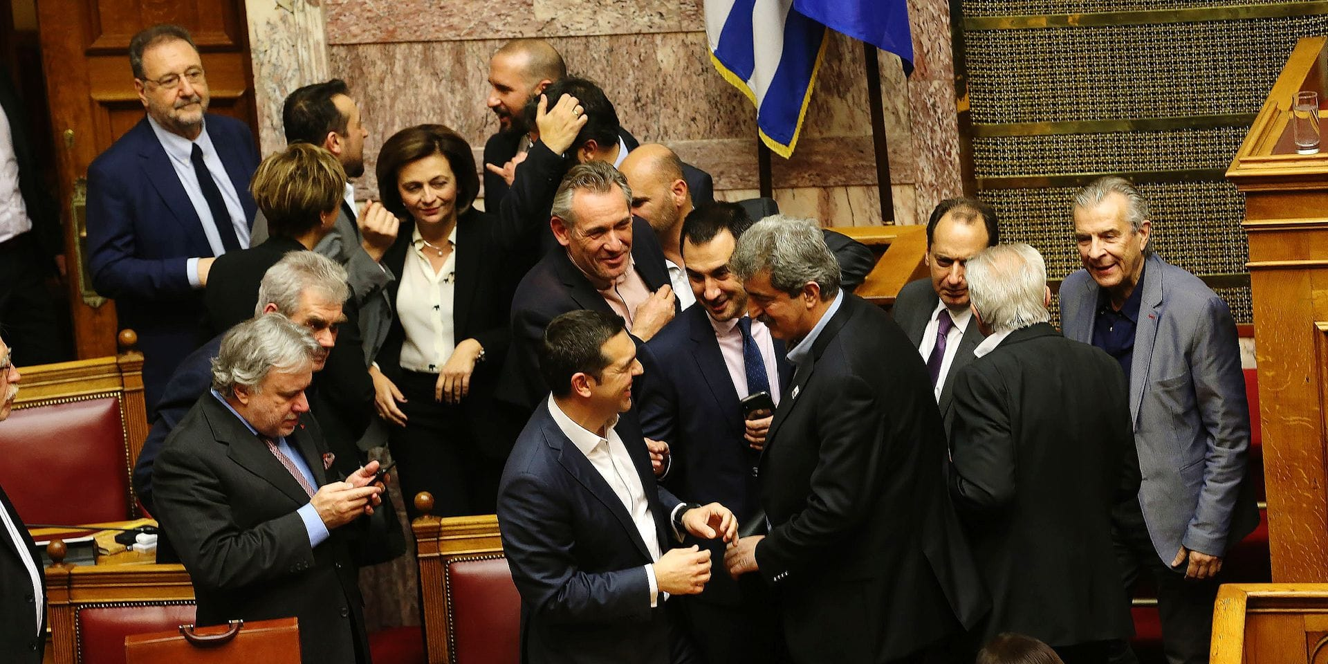 GREECE ATHENS GOVERNMENT CONFIDENCE VOTE WINNING