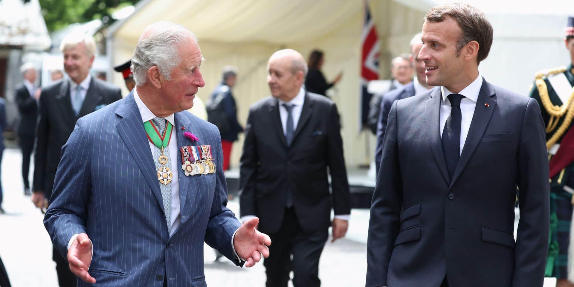 Prince Charles : on sait ce qu'Emmanuel Macron lui a offert en arrivant à Londres
