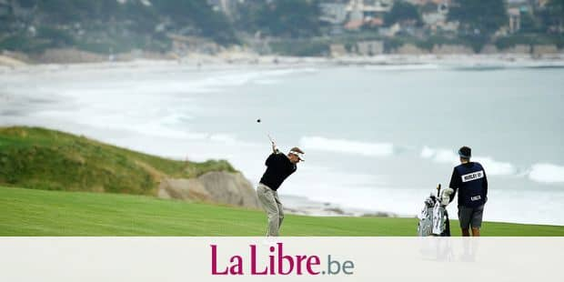 PEBBLE BEACH, CALIFORNIA - JUNE 13: Billy Hurley III of the United States plays a second shot on the tenth hole during the first round of the 2019 U.S. Open at Pebble Beach Golf Links on June 13, 2019 in Pebble Beach, California. Ezra Shaw/Getty Images/AFP == FOR NEWSPAPERS, INTERNET, TELCOS & TELEVISION USE ONLY ==