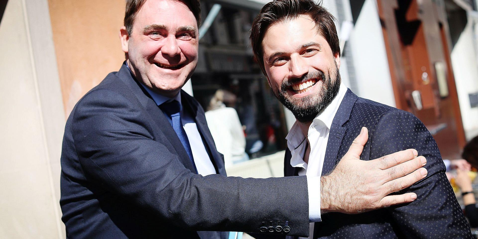 Photos Bernard Demoulin : MR Georges-Louis Bouchez et Denis Ducarme