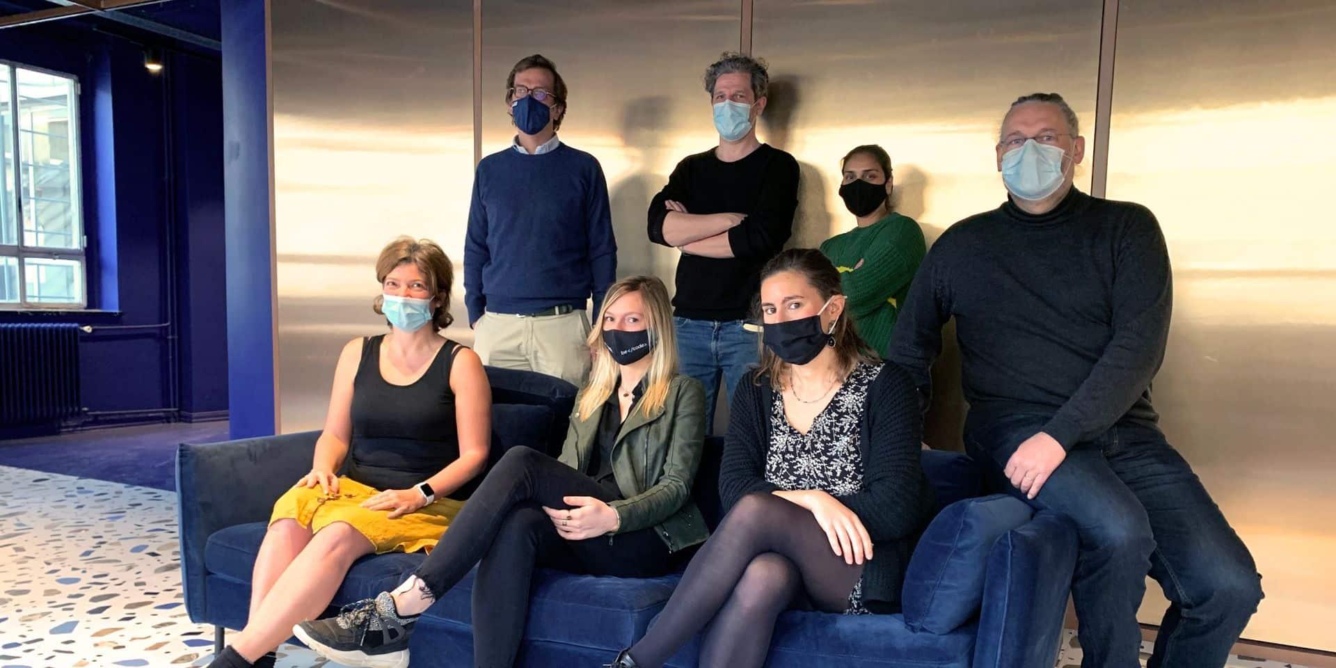 L'équipe de BeCode, entreprise sociale soutenue par Change.