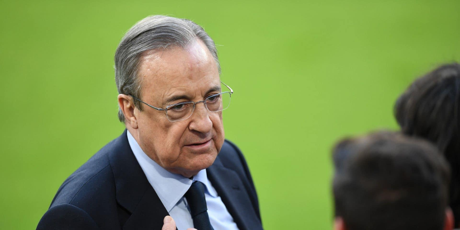 """Le projet de Super Ligue européenne est """"en stand-by"""", annonce Florentino Perez"""