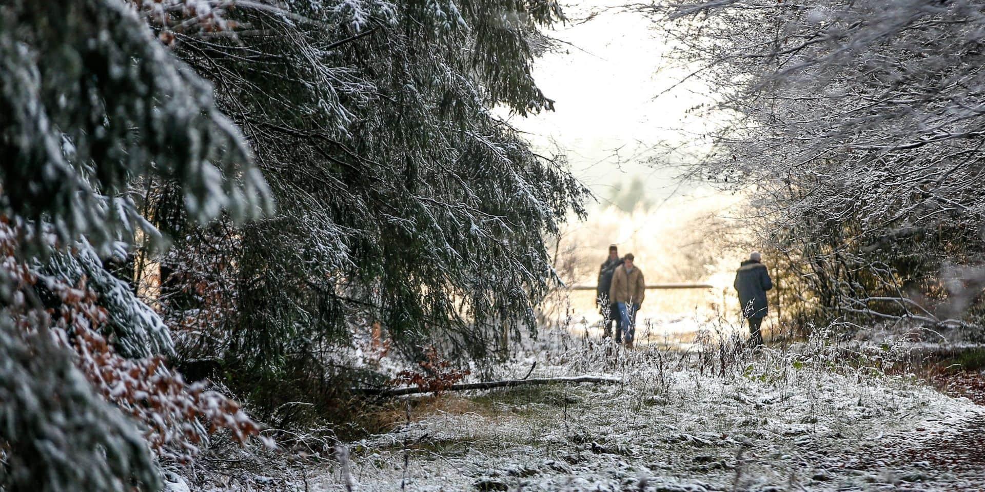 Certaines régions belges peuvent profiter d'un Noël blanc