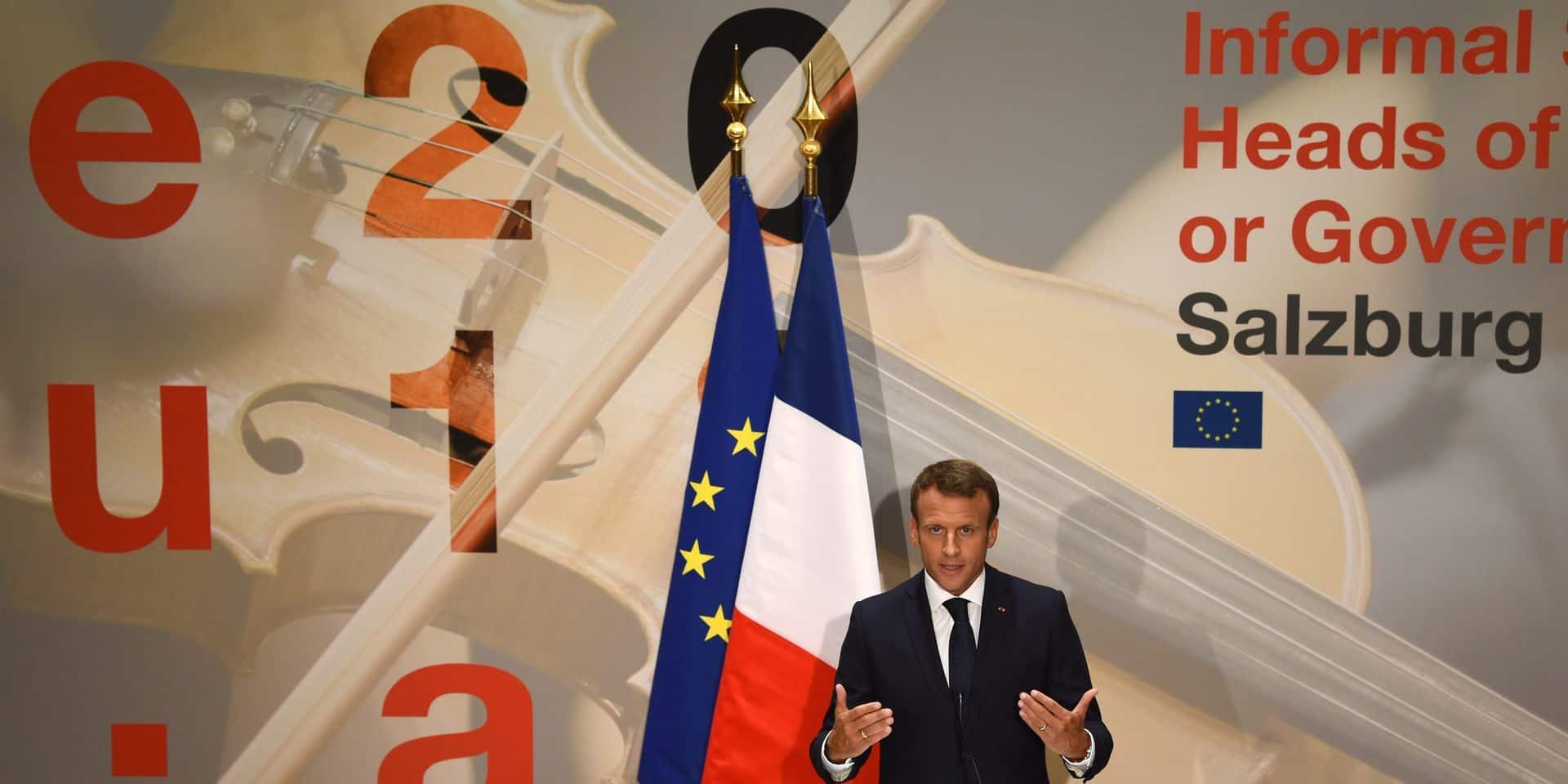 """Brexit: Pour Macron les propositions de Londres """"pas acceptables"""""""