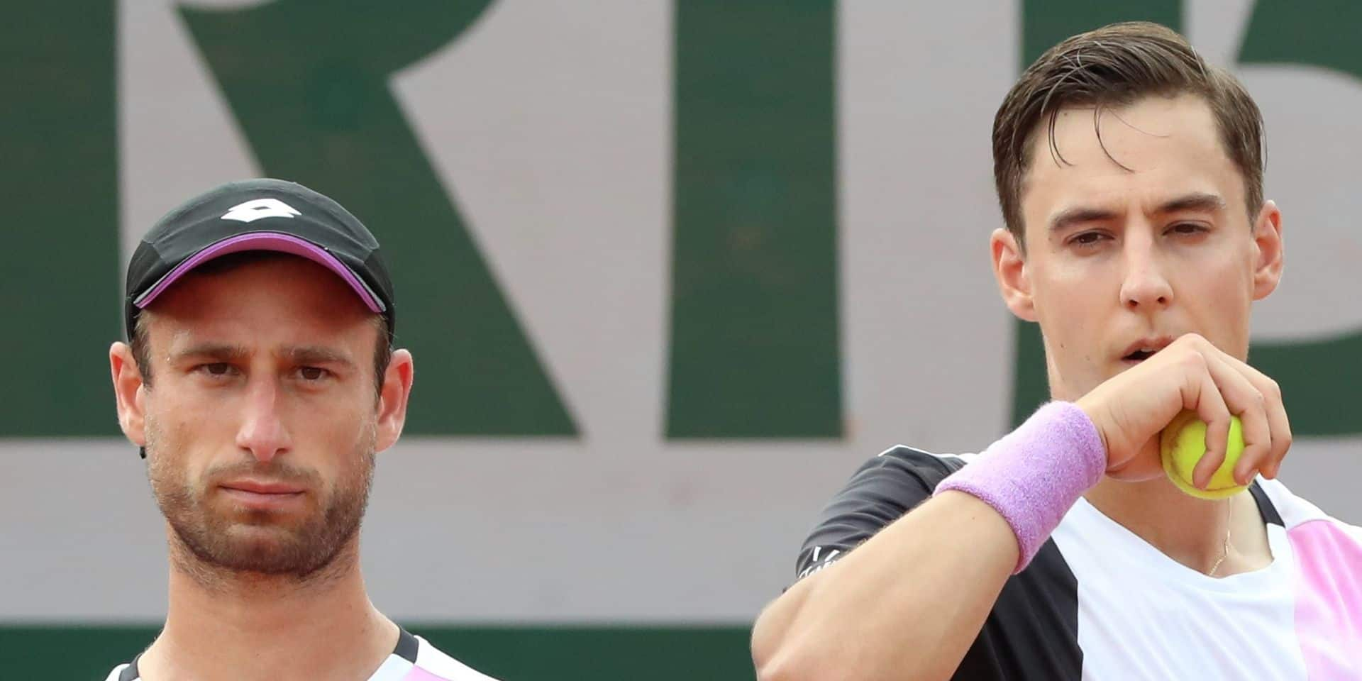 Roland-Garros: Sander Gillé et Joran Vliegen éliminés en 8e de finale du double, Mertens aussi sortie en double