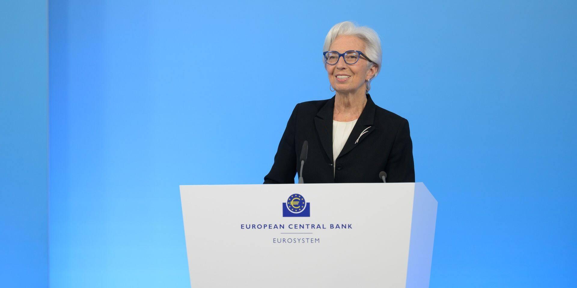 Christine Lagarde et la BCE se voulaient rassurantes au sujet de la montée de l'inflation, liée à la reprise économique.
