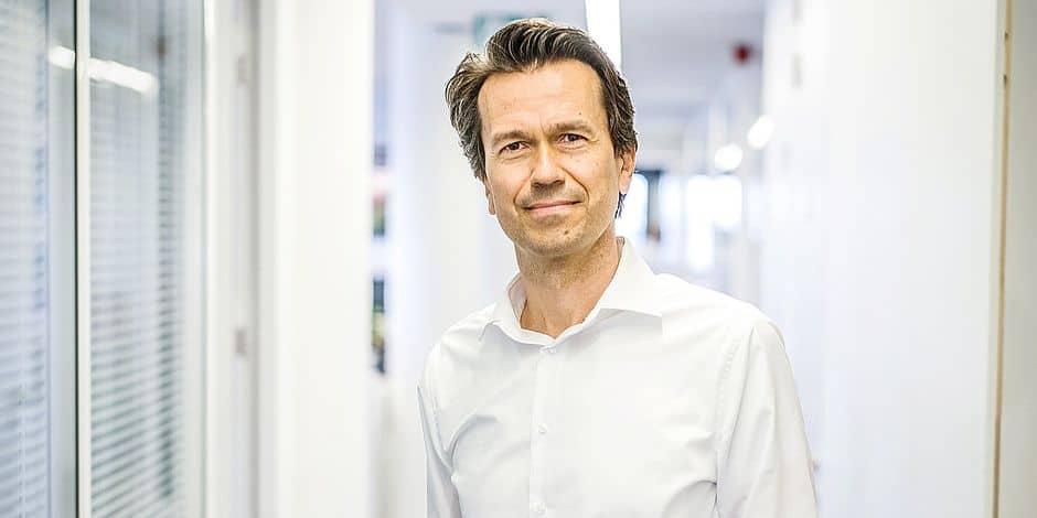 20170604 - BELGIQUE, BRUXELLES: Portrait Michel Mersch CEO de Nestle, le 4 juin 2018. PHOTO OLIVIER PAPEGNIES / COLLECTIF HUMA