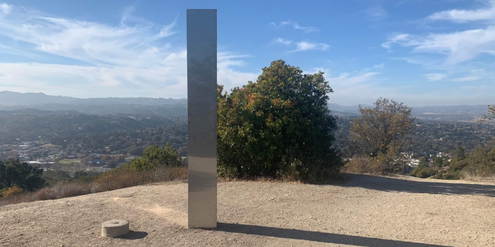 Le mystère repart de plus belle: un nouveau monolithe découvert en Californie