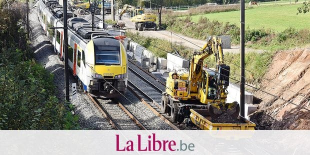Trains SNCB rail transport cheminot travaux chantier Infrabel Desiro
