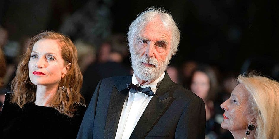©Quentin Veuillet/Wostok Press/Maxppp France Cannes 22/05/2017 Actress Isabelle Huppert, director Michael Haneke attend the 'Happy End' screening during the 70th annual Cannes Film Festival at Palais des Festivals