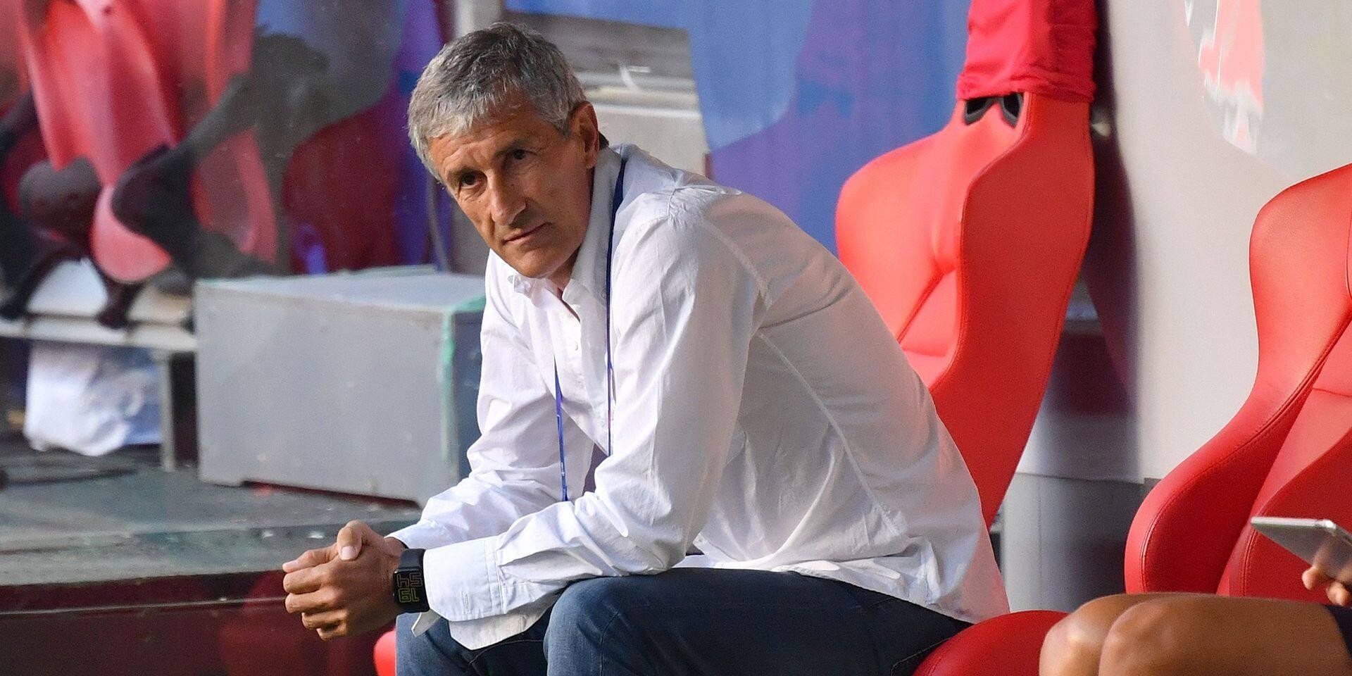 C'est officiel: Quique Setién n'est plus l'entraîneur de Barcelone!