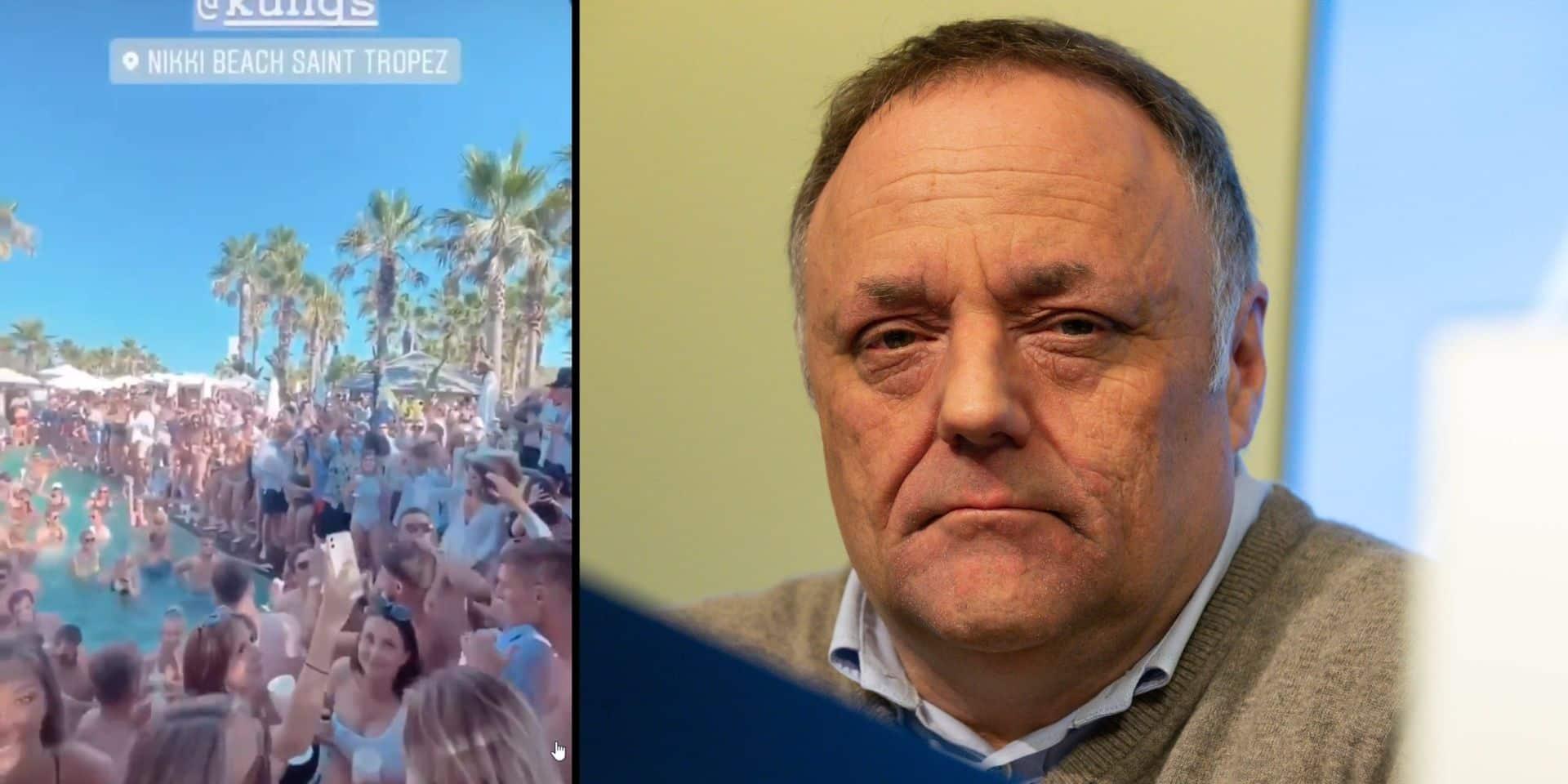 """A Saint-Tropez, les vacanciers font la fête comme si le coronavirus n'existait pas: """"un comportement irresponsable"""", réagit Van Ranst"""
