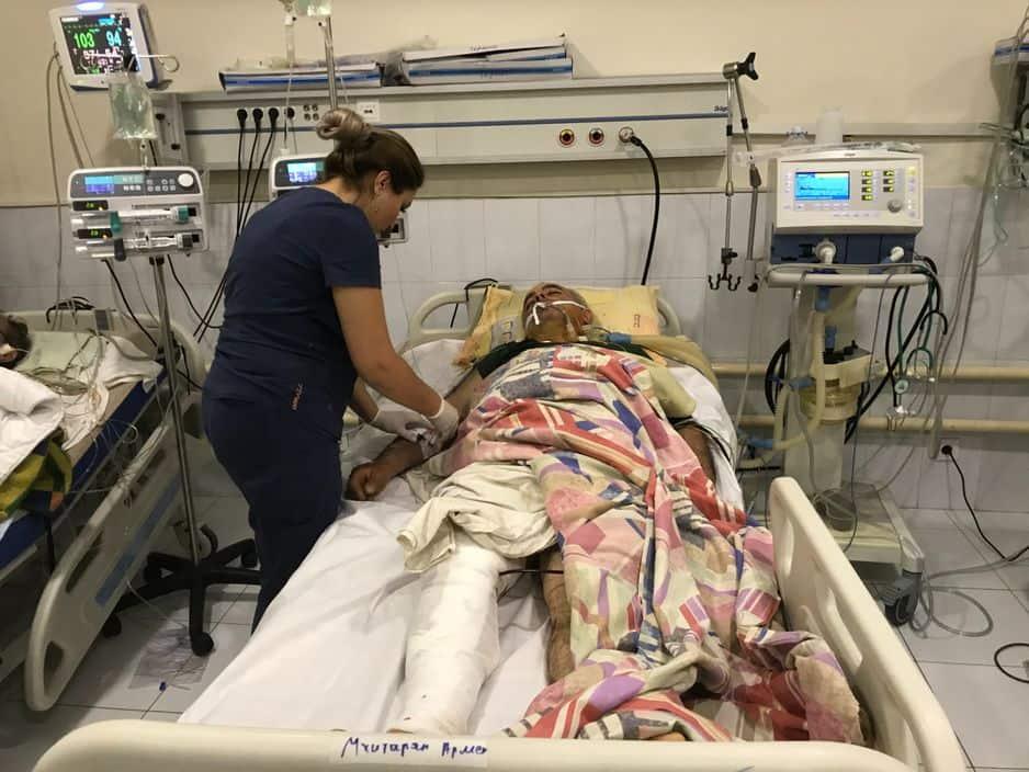 Ces blessés, une fois stabilisés, vont être transférés en Arménie.