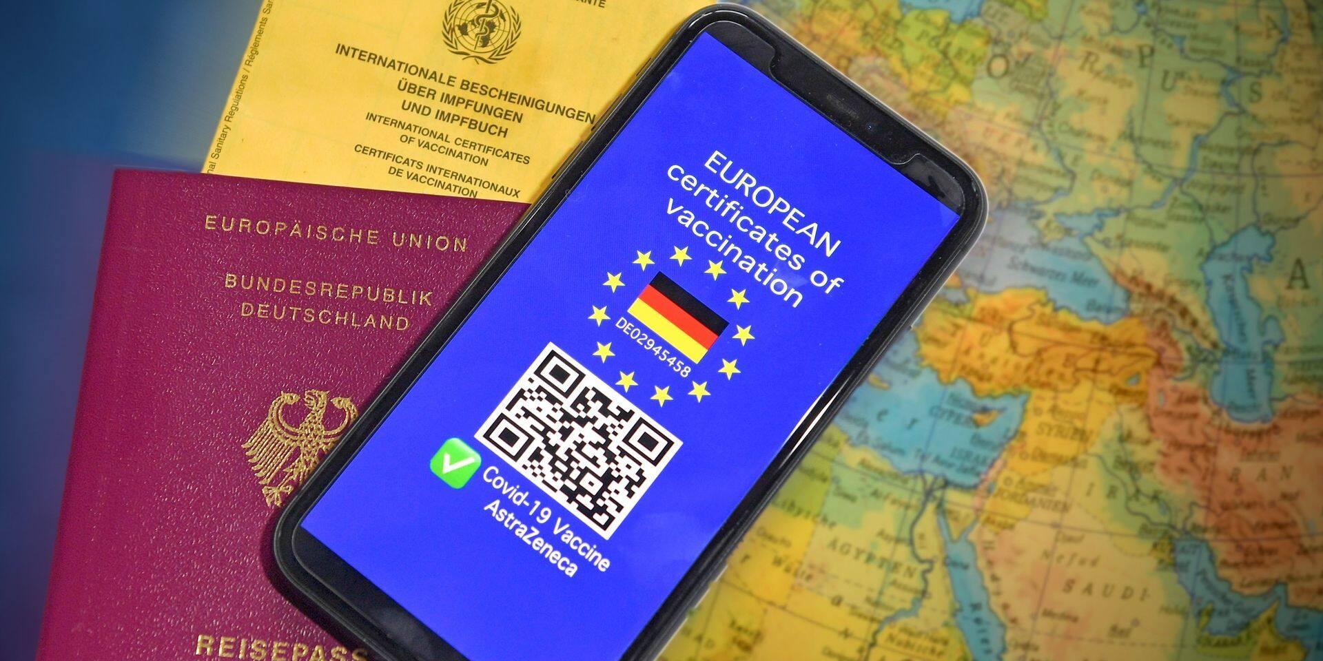 Le pass sanitaire européen en phase de tests dès ce lundi pour être opérationnel en juin