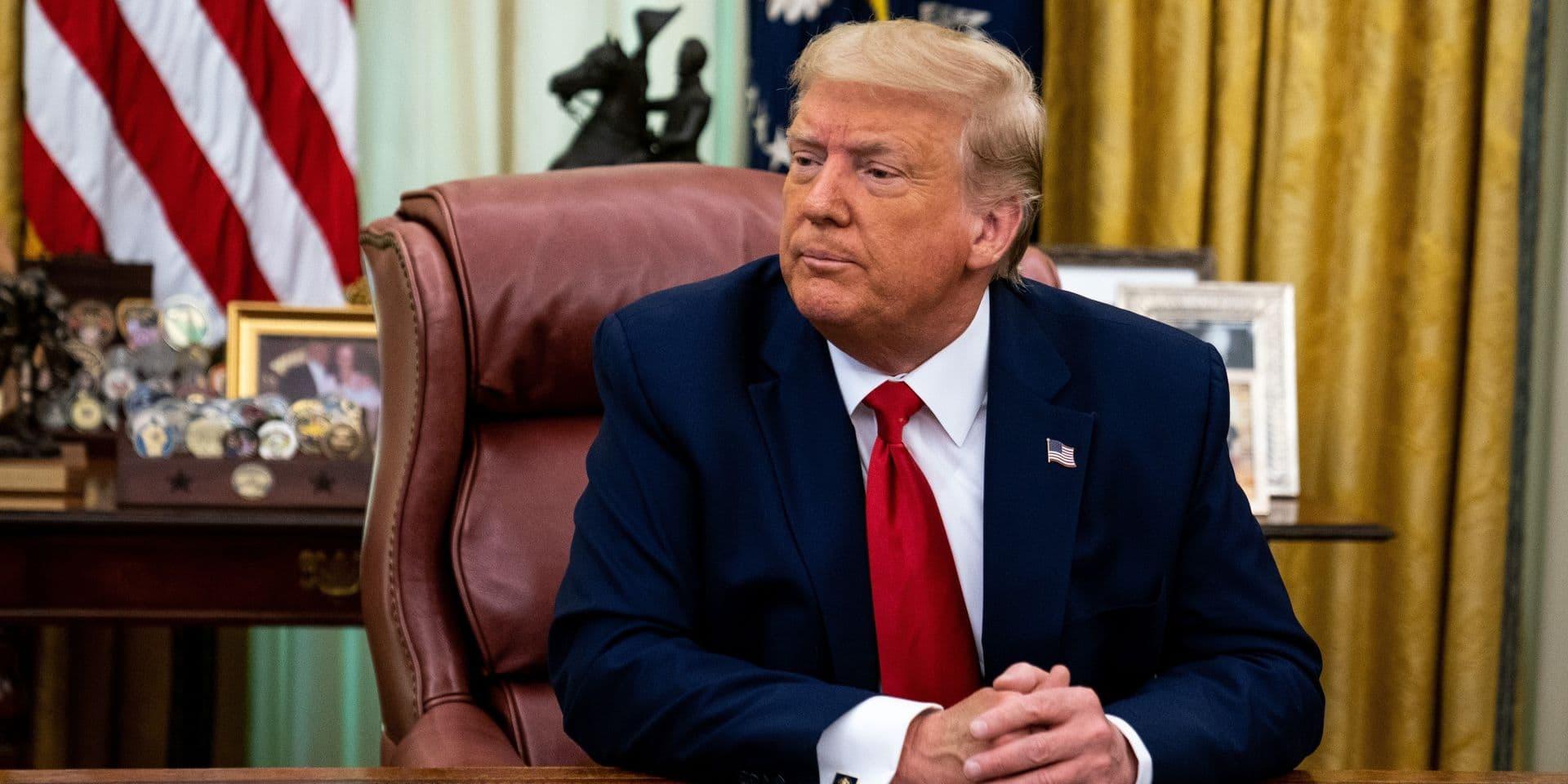Ces deux portraits que Donald Trump ne voulait visiblement plus voir à l'intérieur de la Maison Blanche
