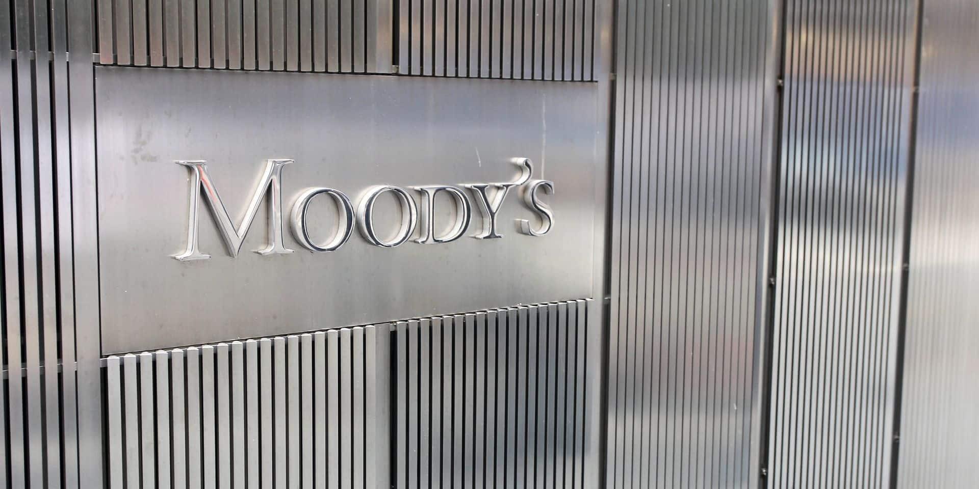 Le système bancaire belge est stable selon l'agence de notation Moody's
