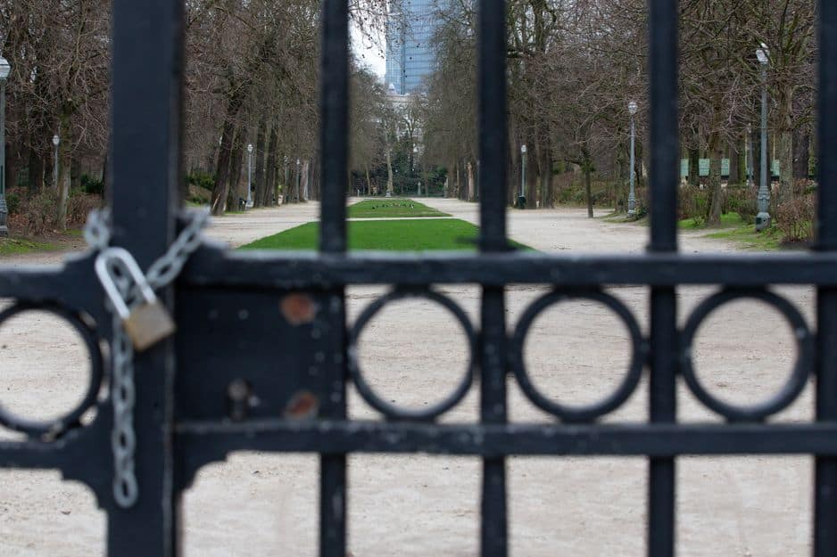Le Parc Royal est fermé à Bruxelles.