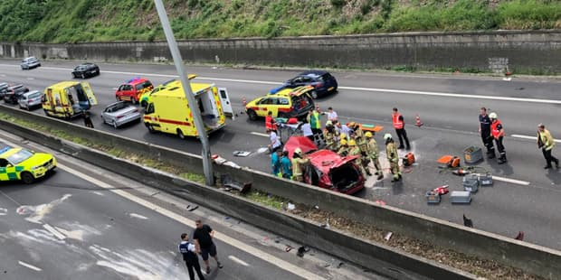 Gros accident sur le ring de Bruxelles à hauteur de Wezembeek-Oppem - La Libre
