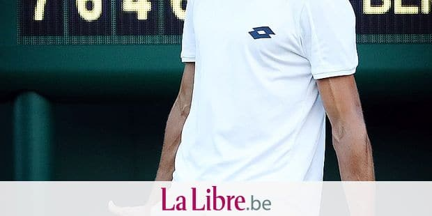 Belgian Ruben Bemelmans celebrates during a first round game of the ladies singles between Belgian Yanina Wickmayer (WTA 102) and German Mona Barthel (WTA 114) at the first day of the 2018 Wimbledon grand slam tennis tournament at the All England Tennis Club, in south-west London, Britain, Monday 02 July 2018. BELGA PHOTO VIRGINIE LEFOUR