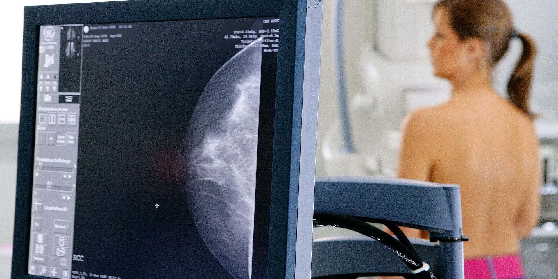 Mammography at Rouen university hospital, France.