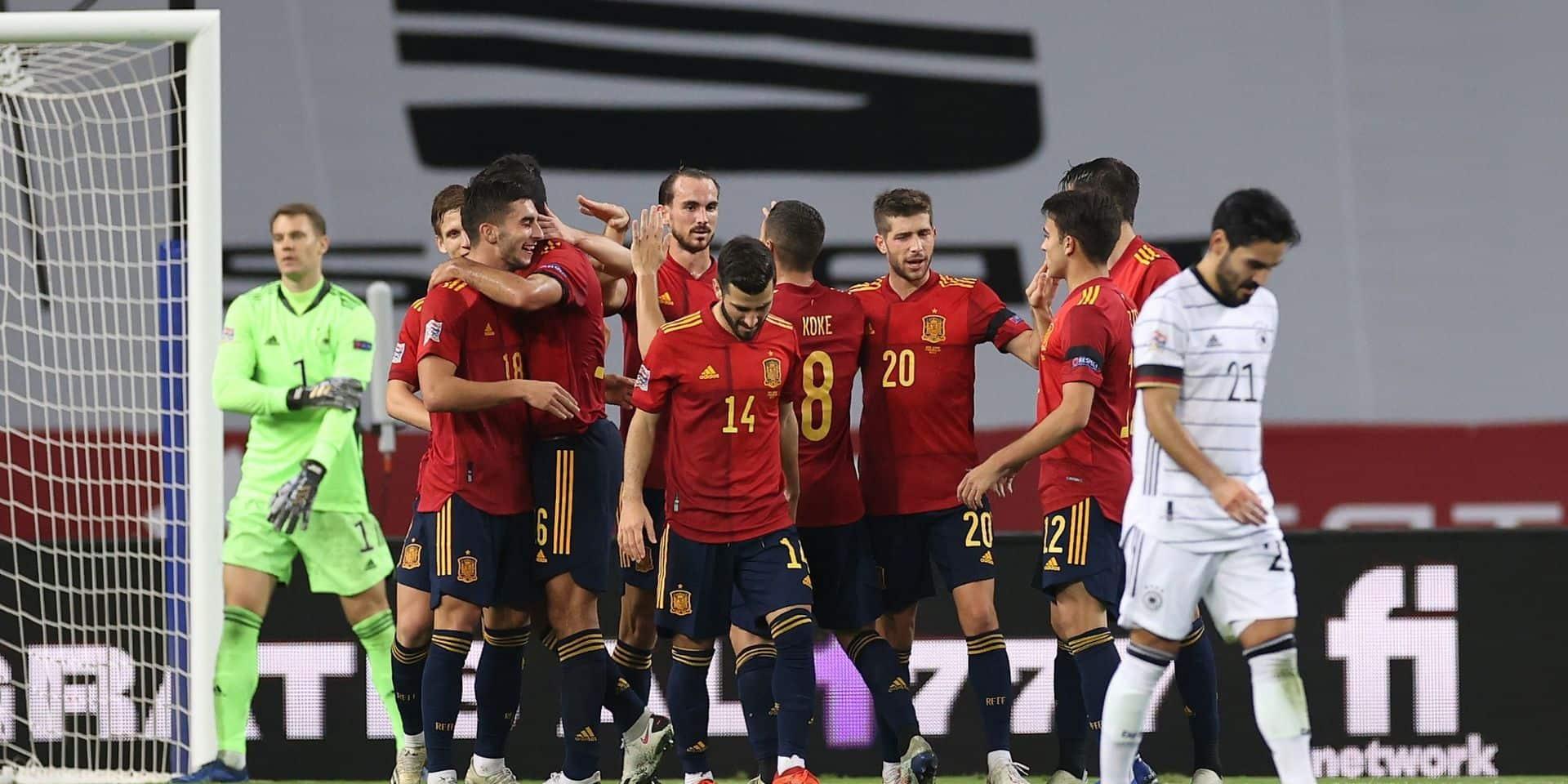 """Nations League: l'Espagne écrase l'Allemagne 6-0 et va au """"Final-4"""""""