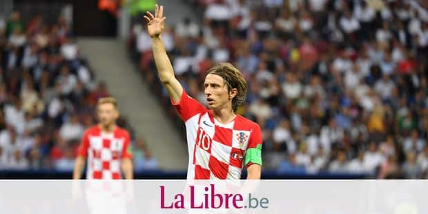 Luka MODRIC (CRO), gesture, gives instructions, action, single image, single cut motif, half figure, half figure. France (FRA) - Croatia (CRO) 4-2, Final, Game 64, on 15.07.2018 in Moscow; Luzhniki Stadium. Football World Cup 2018 in Russia from 14.06. - 15.07.2018. | usage worldwide Reporters / DPA