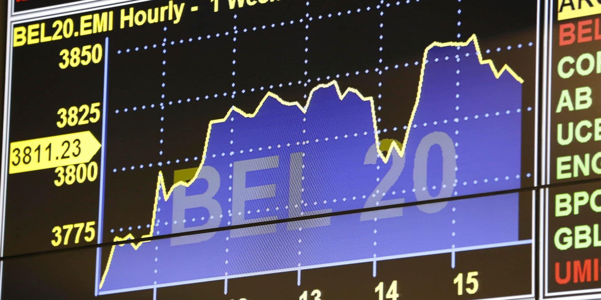 Le BEL 20 termine la journée dans le rouge, à contre-courant des autres Bourses européennes